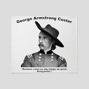 Custer: Benteen Throw Blanket
