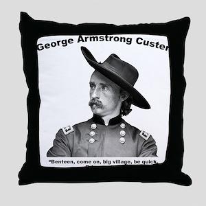 Custer: Benteen Throw Pillow