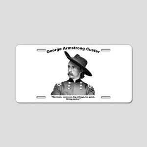 Custer: Benteen Aluminum License Plate