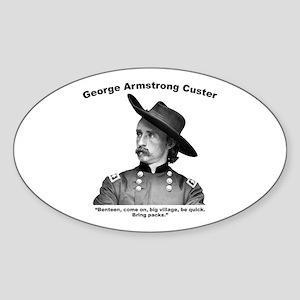 Custer: Benteen Sticker (Oval)