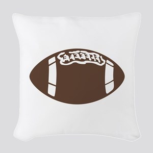 FOOTBALL Woven Throw Pillow