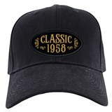 1958 birthday Baseball Cap with Patch