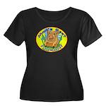 Pig - Women's Plus Size Scoop Neck Dark T-Shirt