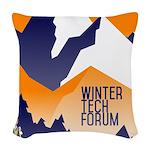 WTF Mountain Woven Throw Pillow