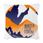 WTF Mountains Woven Throw Pillow