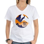 WTF Mountains Women's V-Neck T-Shirt