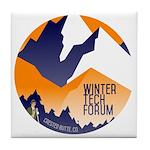 WTF Mountains Tile Coaster