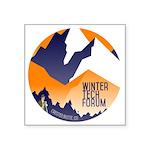 WTF Mountains Square Sticker 3