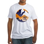 WTF Mountains Fitted T-Shirt