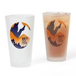 WTF Mountains Drinking Glass