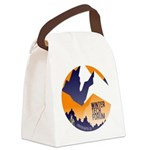 WTF Mountains Canvas Lunch Bag