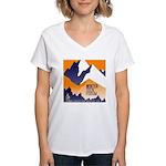 WTF Mountain Women's V-Neck T-Shirt
