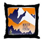 WTF Mountain Throw Pillow