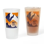WTF Mountain Drinking Glass