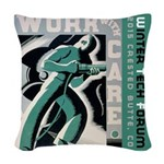 Work with care CB Woven Throw Pillow