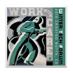 Work with care CB Tile Coaster