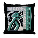 Work with care CB Throw Pillow