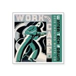 Work with care CB Square Sticker 3