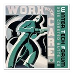 Work with care CB Square Car Magnet 3