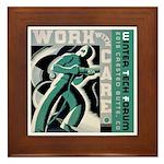 Work with care CB Framed Tile