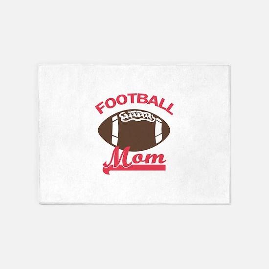 FOOTBALL MOM 5'x7'Area Rug