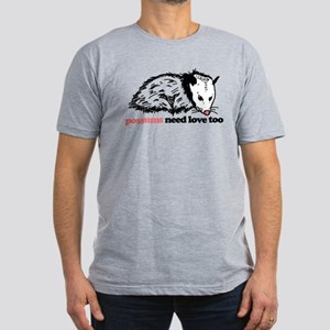 Possums Need Love Too Men's Fitted T-Shirt (dark)