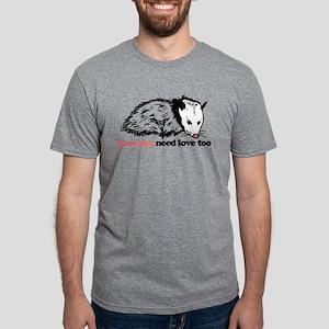 Possums Need Love Too Mens Tri-blend T-Shirt
