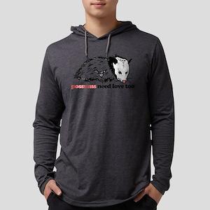 Possums Need Love Too Mens Hooded Shirt