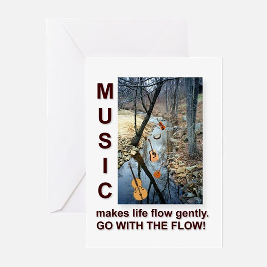 Violin Banjo Mando Fiddle Bass Cards (Pack of 6)