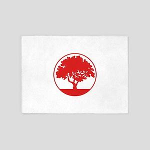 FRAMED TREE 5'x7'Area Rug