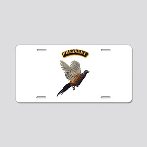 Pheasant with Text Aluminum License Plate