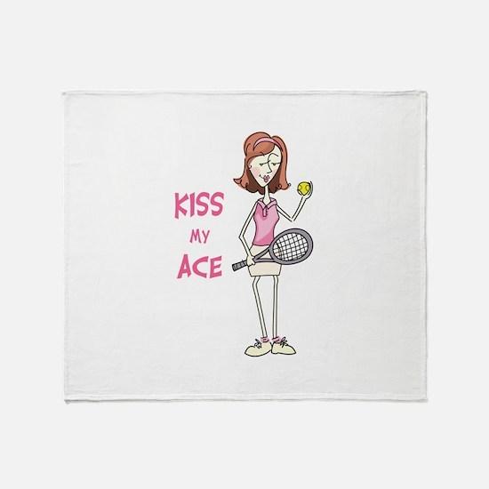 KISS MY ACE Throw Blanket