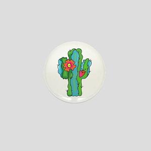 FLOWERING CACTUS Mini Button