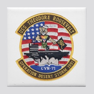 USS Roosevelt Desert Storm Tile Coaster