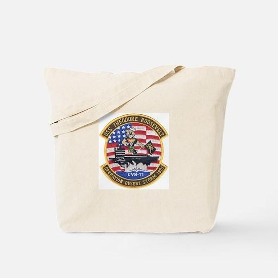 USS Roosevelt Desert Storm Tote Bag