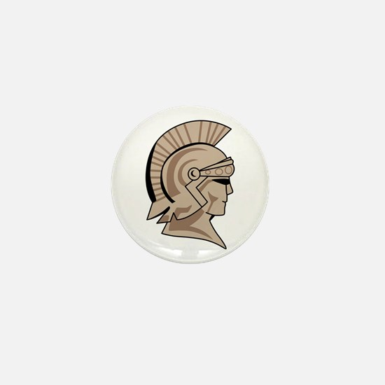 TROJAN SPARTAN HEAD Mini Button