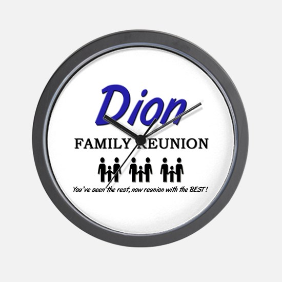 Dion Family Reunion Wall Clock