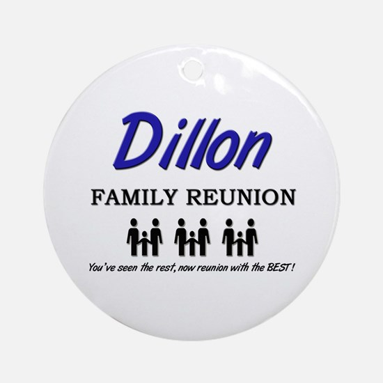 Dillon Family Reunion Ornament (Round)