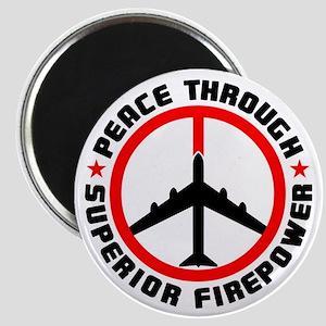 "Peace Through Superior Firepower 2.25"" Magnet (10"