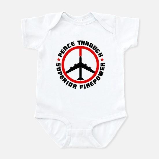 Peace Through Superior Firepower Infant Bodysuit