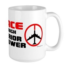 Peace Through Superior Firepower Large Mug