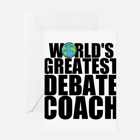 World's Greatest Debate Coach Greeting Cards