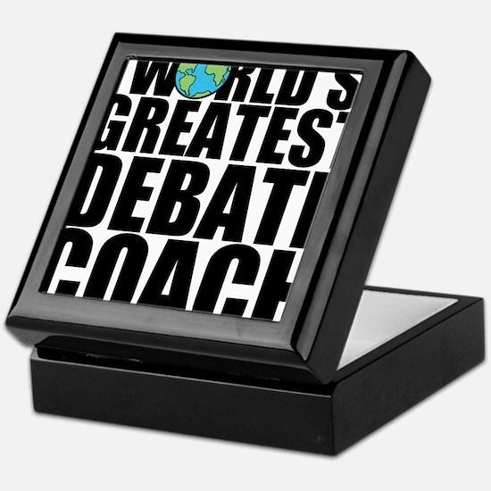 World's Greatest Debate Coach Keepsake Box