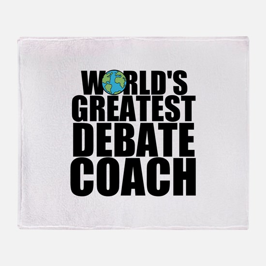 World's Greatest Debate Coach Throw Blanket