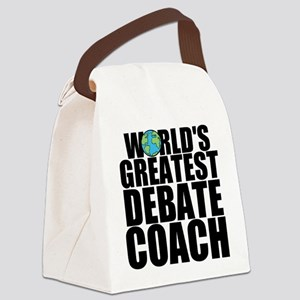 World's Greatest Debate Coach Canvas Lunch Bag