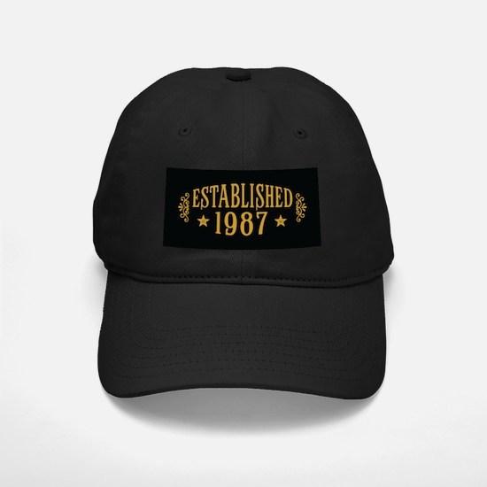 Established 1987 Baseball Hat