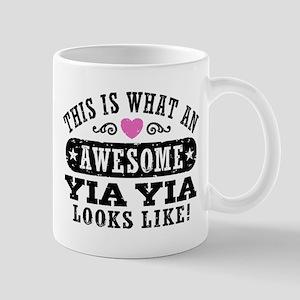Awesome Yia Yia 11 oz Ceramic Mug