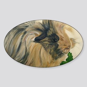 Chippy The Peruvian Long Haired Gui Sticker (Oval)