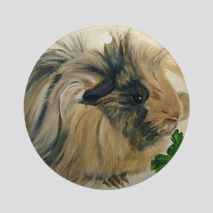 Chippy The Peruvian Long Haired Gui Round Ornament