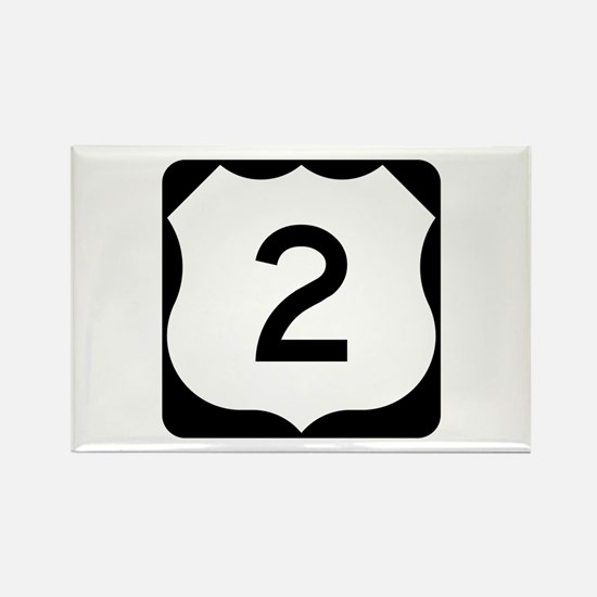 US Route 2 Rectangle Magnet